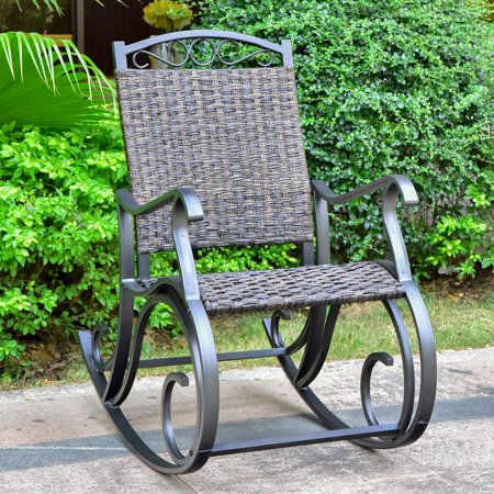 Aluminum Porch Frame - International Caravan Ibiza Aluminum Outdoor Porch Rocker
