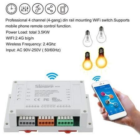 Sonoff 4-Channel Smart W ireless WiFi Switch Mobile Phone