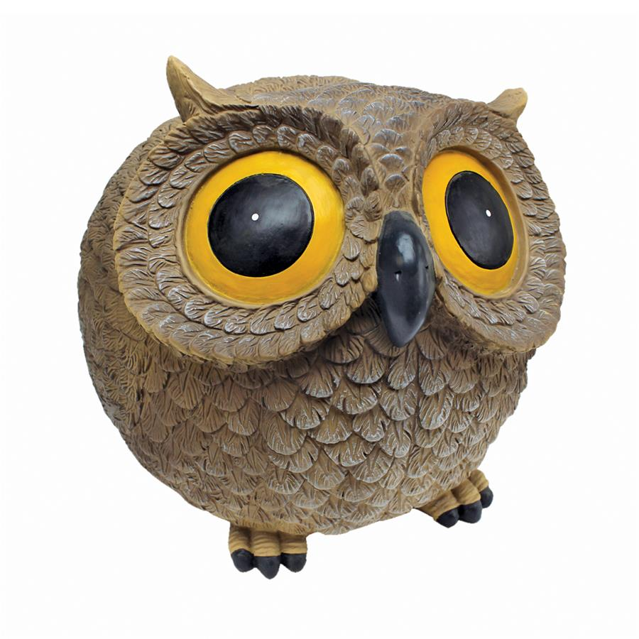 Design Toscano Puffy, the Roly-Poly Garden Owl Statue