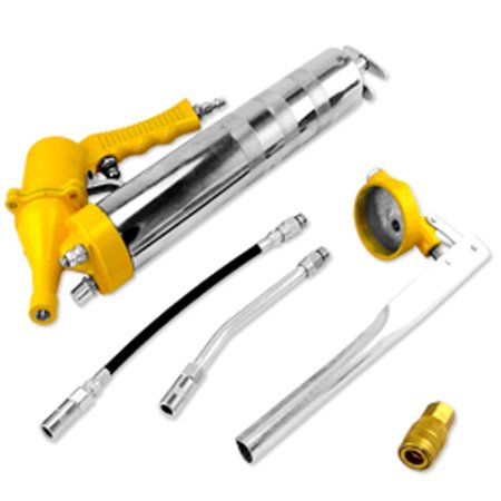 6 Pc Air Pneumatic Hand Pump Grease Gun Kit Set Lever Lube Greaser - Greaser Guy