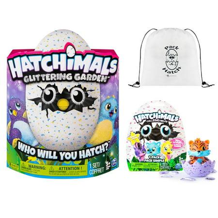 Hatchimals Glittering Garden Draggle   Colleggtibles Blind Bag  Season 1    Pack A Hatch Cinch Backpack Combo