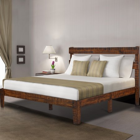 Granrest 12 Inch Classic Solid Wood Platform Bed With