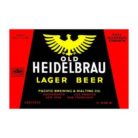 Old Lager Beer (Old Heidelbrau Lager Beer Print (Unframed Paper Print)