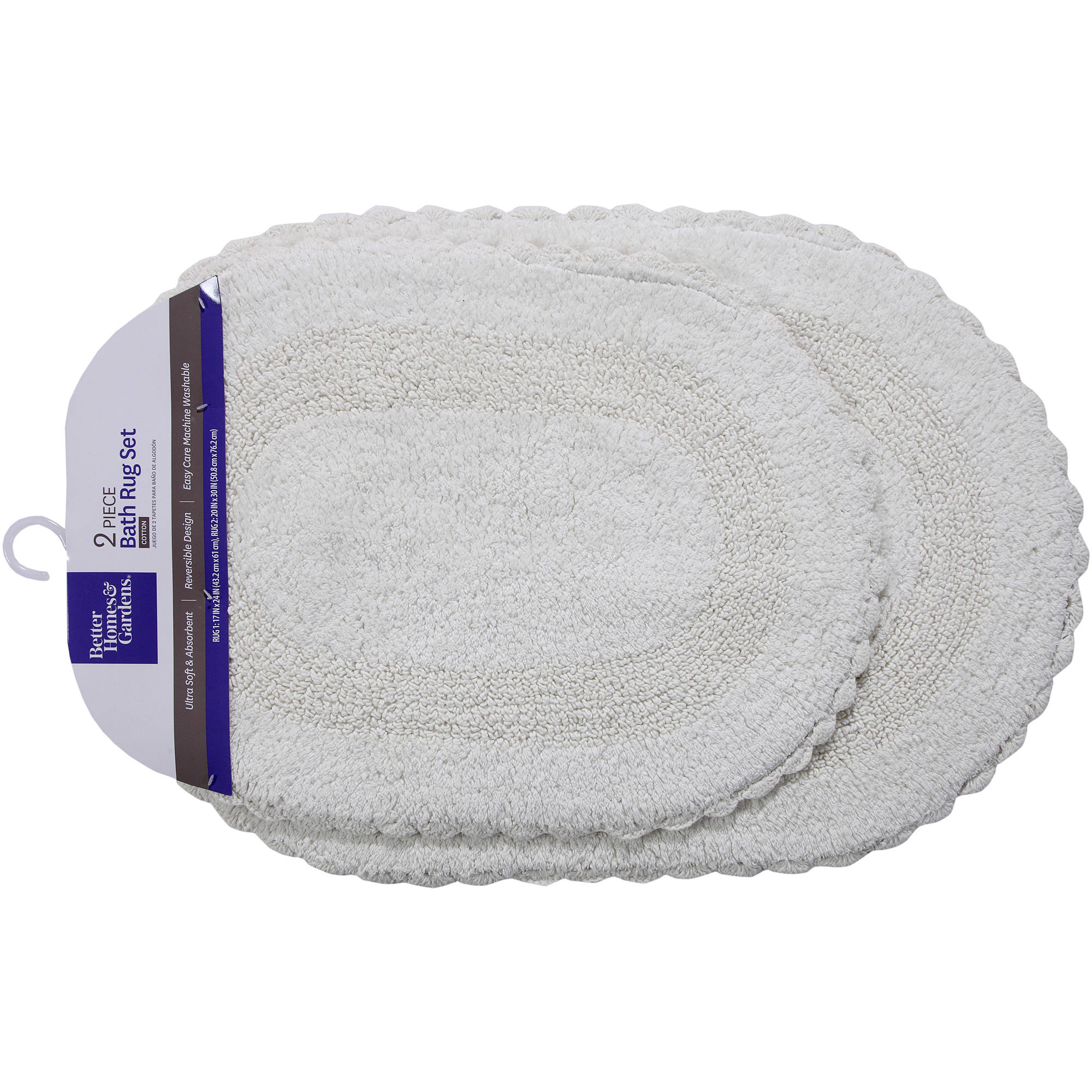 better homes and gardens bath rugs. Better Homes And Gardens 2-Piece Crochet-Edge Cotton Bath Rug Set Rugs