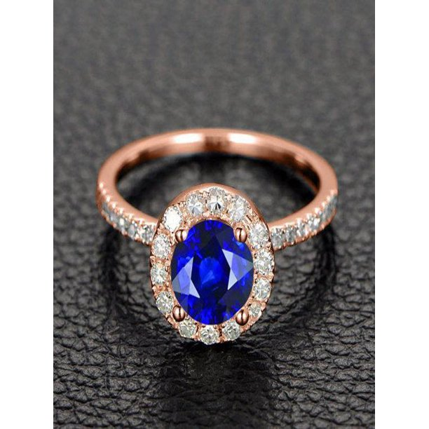 Diamond Rings For Sale Walmart: Limited Time Sale: 1.25 Carat Blue Sapphire