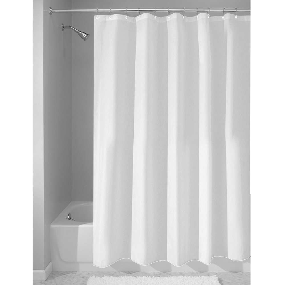 InterDesign Set Of 2 Thistle Blue And Gray Shower Curtain Mildew Free Liner 72x72