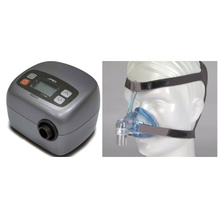 Bundle Deal: XT Auto Travel CPAP Machine (SF04101) with Ascend Nasal CPAP Mask System (50174) by Apex Medical and Sleepnet (No Tax)