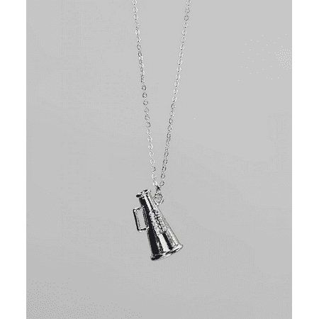 Lux Accessories Kids Girls Silver Megaphone Pendant Necklace