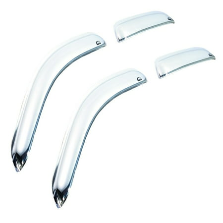 Chrome Wind Deflectors (AVS 07-13 Chevy Silverado 1500 Ext. Cab Ventvisor Front & Rear Window Deflectors 4pc -)