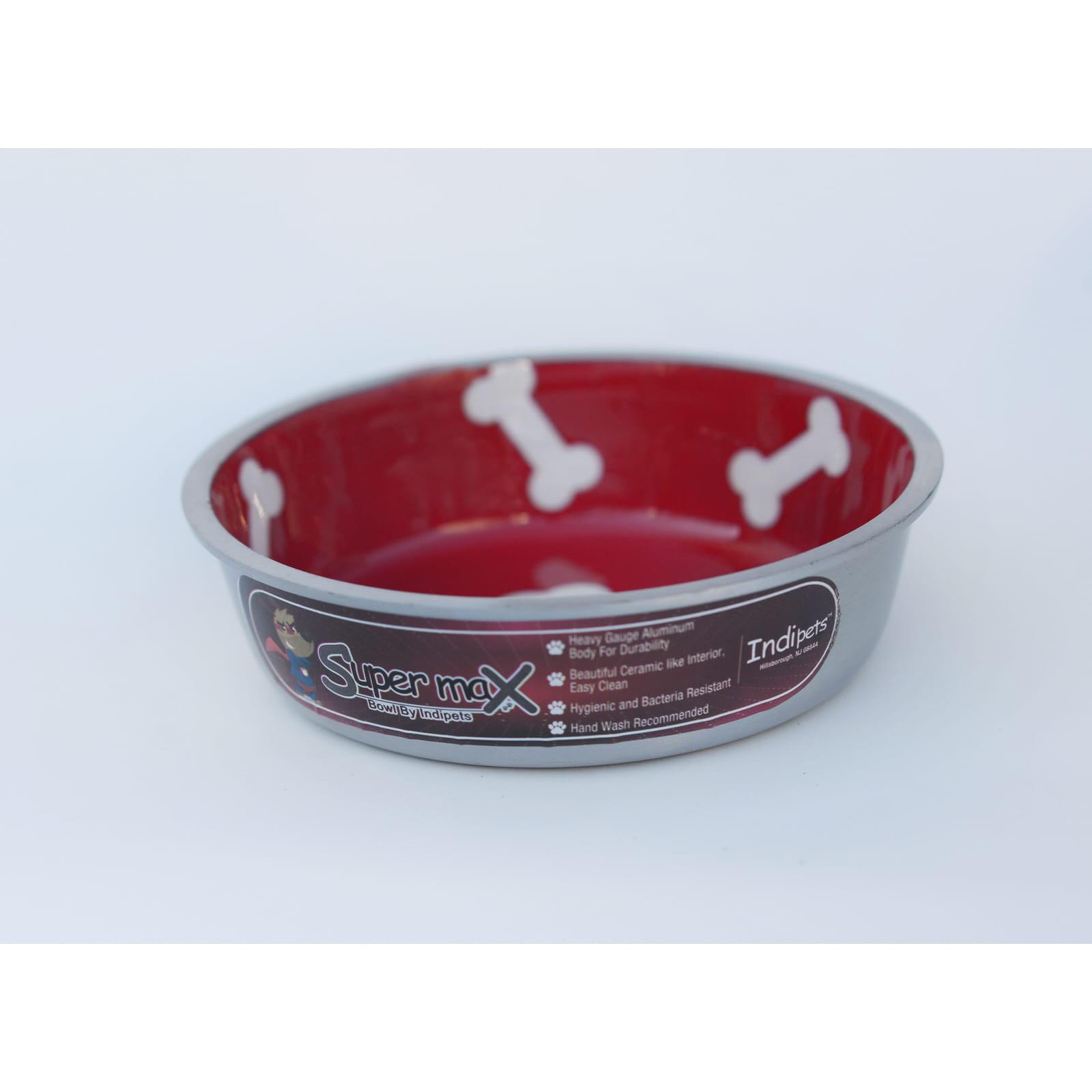 SM Indipets Super Max Aluminum Cat/ Dog Bowls (Set of 2)