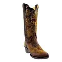 Gameday Boots Womens Wyoming Leather Pointed Embroidered WY-L328-1