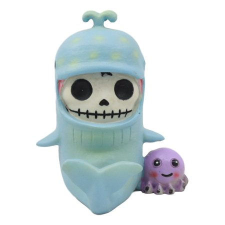 Furry Monster (Ebros Furry Bones Sea World Moby Dick The Whale Costume Skeleton Monster With Purple Octopus Collectible Figurine)