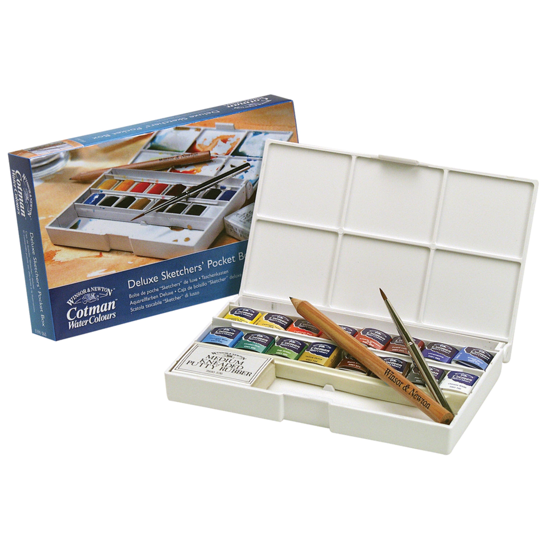 Winsor & Newton Cotman Watercolor Deluxe Pocket Box