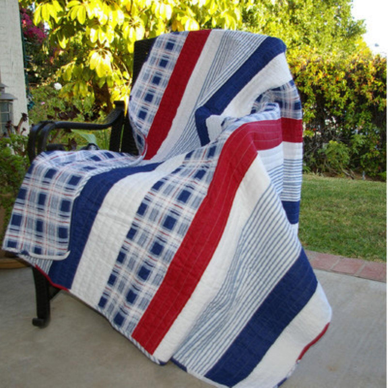 Greenland Home Fashions Nautical Stripe Throw Blanket
