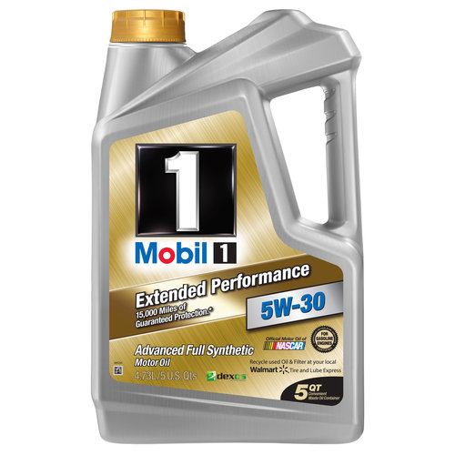 Mobil 1 5W-30  Extended Performance Full Synthetic Motor Oil, 5 qt.