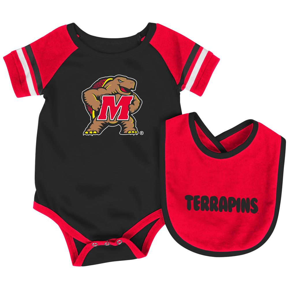University of Maryland Terps Baby Bodysuit and Bib Set Infant Jersey by Colosseum