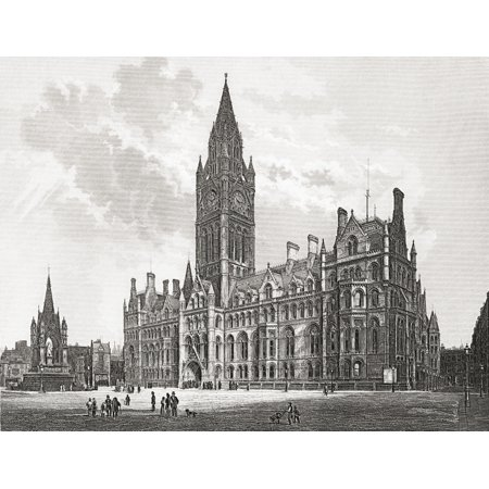 Manchester Town Hall Manchester England In The Late 19Th Nineteenth Century From Our Own Country Published 1898 Stretched Canvas - Ken Welsh  Design Pics (32 x (Our Country's Good Costumes)