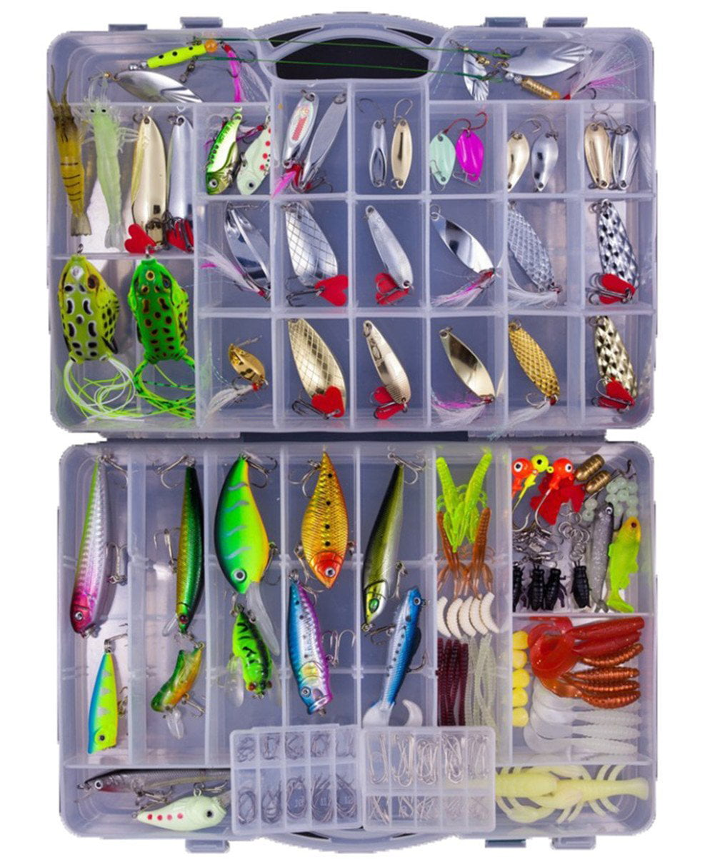 250PCS BOX Fishing Lures Mixed Lots including Hard Lure Minnow Popper Crankbaits VIB Topwater Diving Floating Lures Soft... by