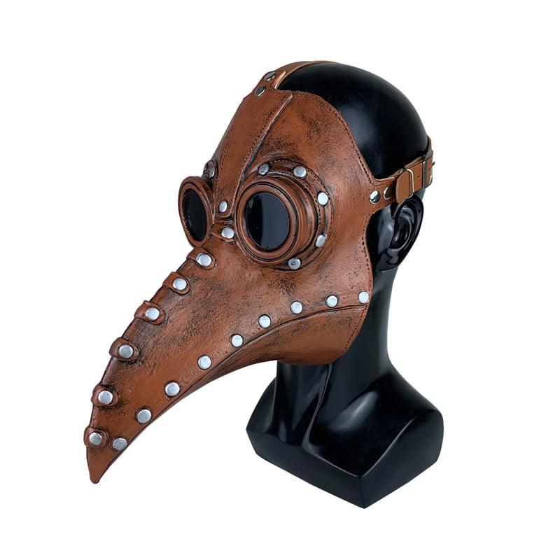 Deluxe Plague Doctor Long Nose Latex Masks Steampunk Bird Crow Mask Halloween