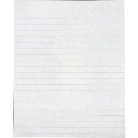 School Smart Practice Ruled Composition Paper, Multiple Sizes, White, Pack of 500
