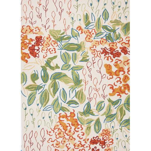 Jaipur Colours Floral Antique White Area Rug