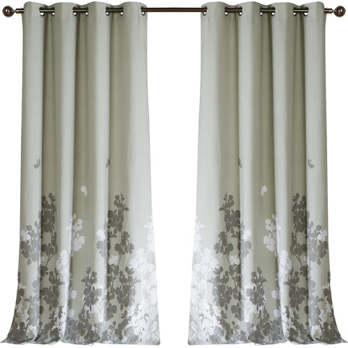 DR International EllaMay Nature/Floral Semi-Sheer Rod pocket Curtain Panels (Set of 2)