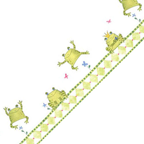 Frog King Prepasted Accent Wallpaper Border Roll