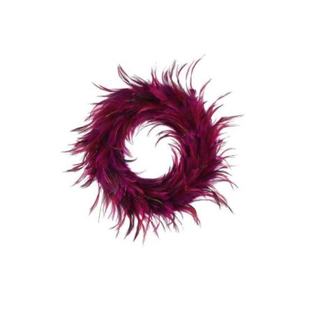 Zucker Feather Products Hackle 18 Inch Peacock Feathers Holiday Wreath