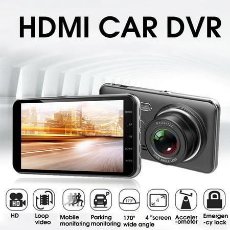 170° 4'' HD 1080P 32GB Car Dual Lens Camera DVR Dash Cam Video Drive Recorder - image 3 of 6