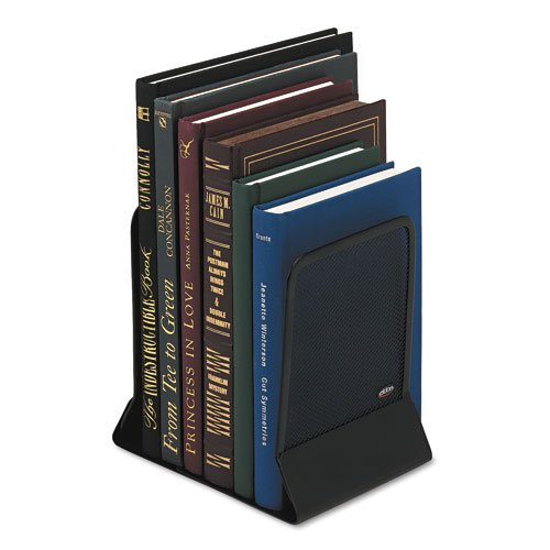 Rolodex Mesh Bookends, Steel, 4 3/4 x 5 1/4 x 6 1/2, Steel, Black