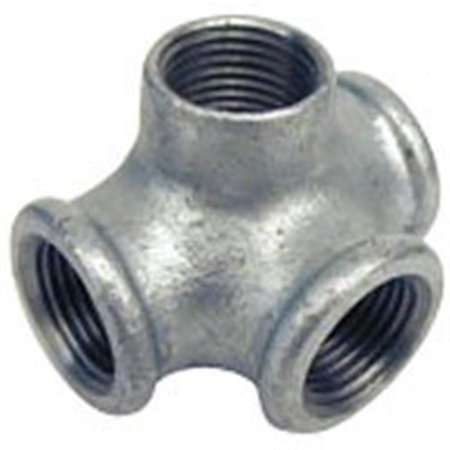 B & K 510-814 Side Outlet Pipe Tee, 3/4 in, Threaded, Malleable Iron