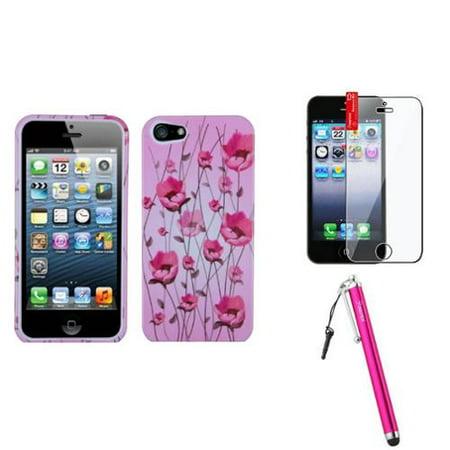 - Insten Sunroom Case For Apple iPhone 5 / 5s + Film + Stylus Pen