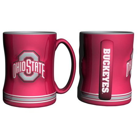 Ohio State Buckeyes Coffee Mug - 14oz Sculpted Relief - New - Buckeyes Dessert