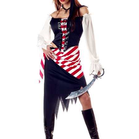 Pirate Outfit Diy (Adult Ruby Small Pirate Costume Outfit)