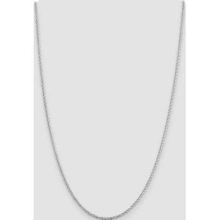 925 Sterling Silver 2.3mm Solid Rope Chain - image 3 of 5