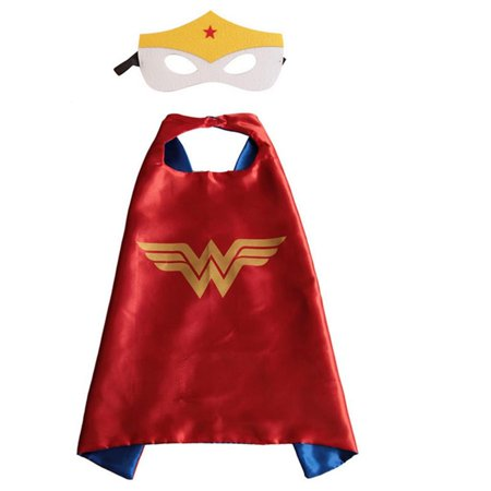 DC Comics Costume - Wonder Woman Cape and Mask with Gift Box by Superheroes](Costume Cape)