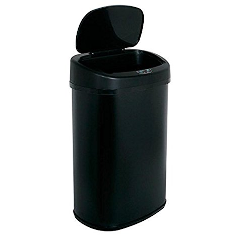 New Black 13 Gallon Touch Free Sensor Automatic Touchless Trash Can Kitchen  O..