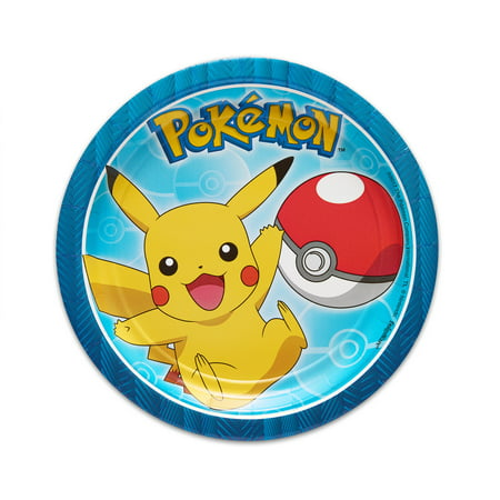 American Greetings Pokemon Party Supplies Disposable Paper Dessert Plates 40-Count
