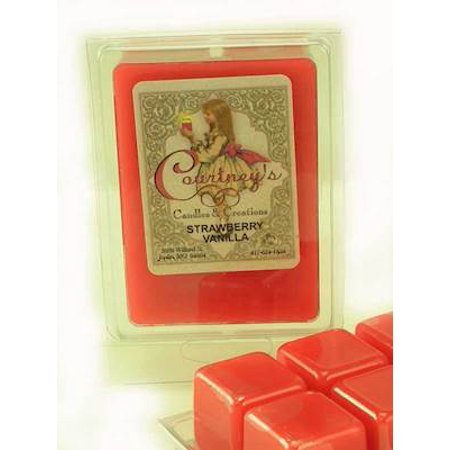 Vanilla Wax - STRAWBERRY VANILLA Mixer Melt or Wax Tart by Courtneys Candles
