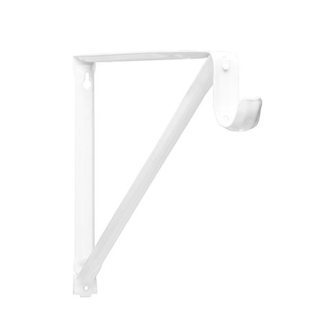 Closet Pro RP-0044-BWT Light Duty 11 in. Shelf And Rod Bracket, White, Holds rods with up to an 1-3/8-inches diameter By John Sterling ()