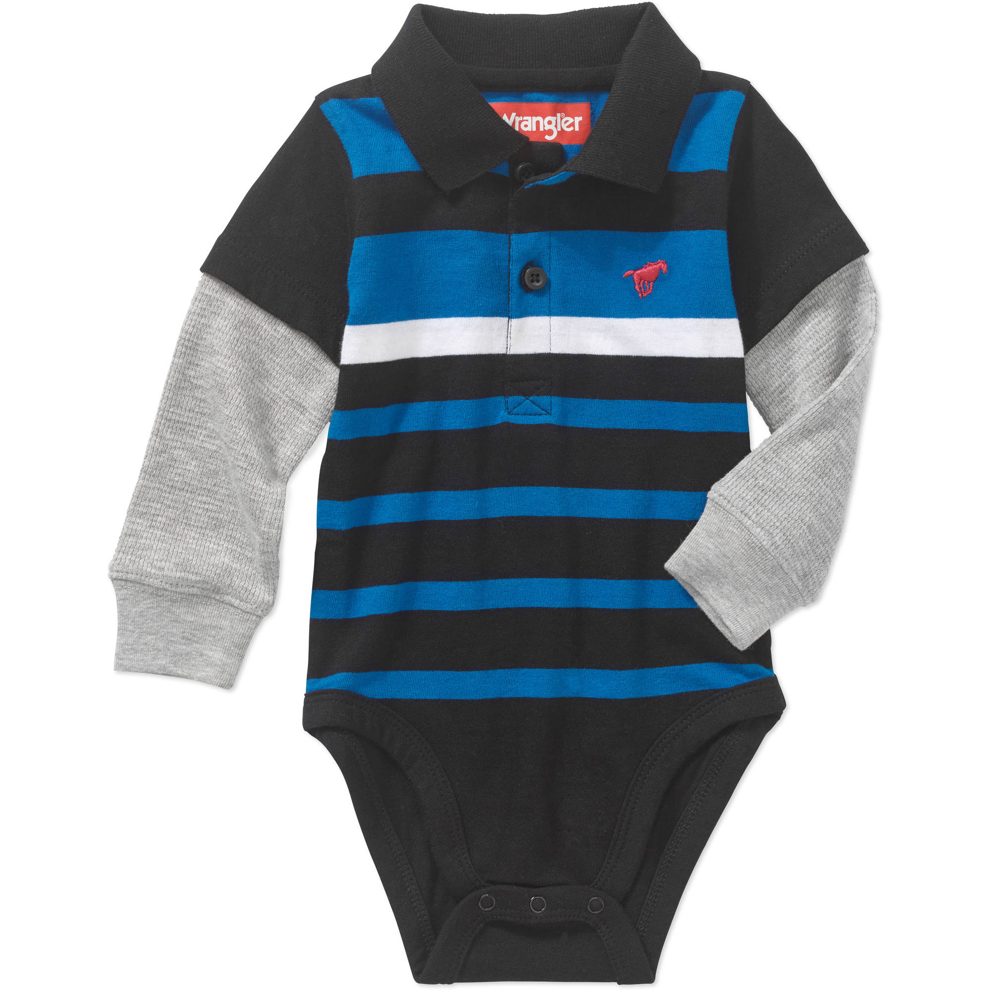 Wrangler Newborn Baby Boys' Long Sleeve Knit Bodysuit