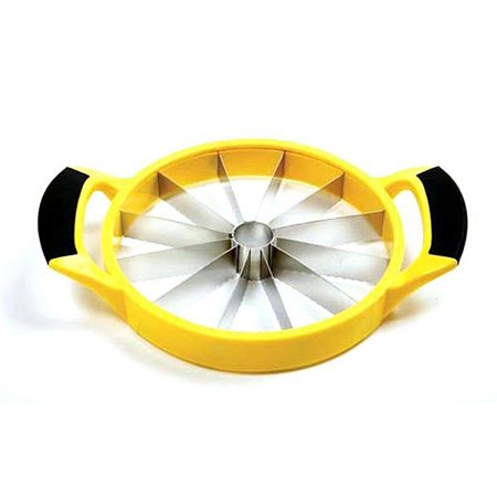 Norpro 5112Y Grip-Ez Melon/Pineapple Cutter, Yellow