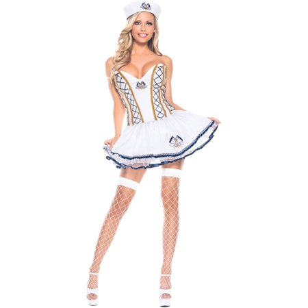 Naughty Sailor Women's Adult Halloween Costume - Sailor Pinup Costume