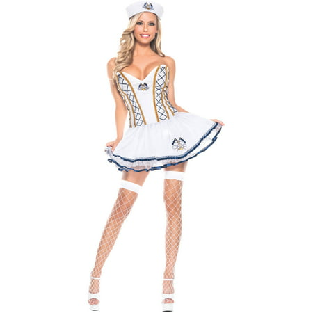 Naughty Sailor Women's Adult Halloween Costume - Naughty Officer Costume