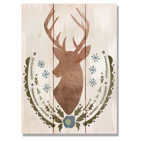 Daydream Wile E Wood Stagg Christmas Indoor Outdoor Cedar Wall Art