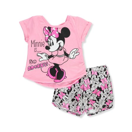 Disney Minnie Mouse Baby Girls' 2-Piece Shorts Set Outfit - Kids Disney Outfits