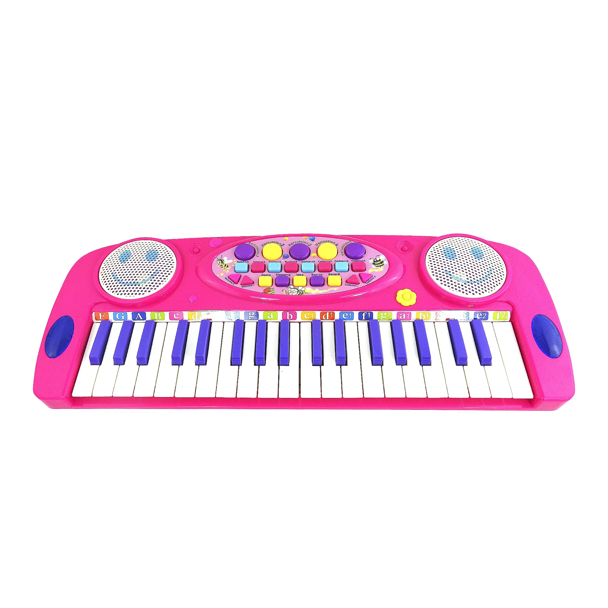 Toy Piano Happy Face Musical Keyboard For Kids Battery Operated Fun Sound Toy by