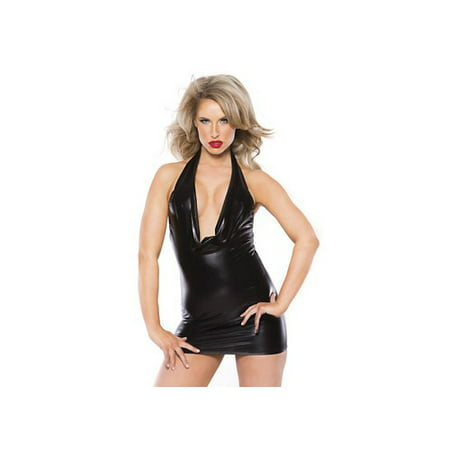 Allure Leather Size Chart (Alluring Kitten Dress by Allure Leather 17-1062K Black One Size Fits All, One Size Fits)