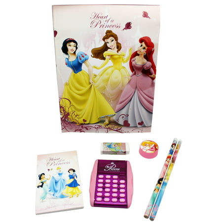Disney Princess Heart of a Princess Kids School Supplies Set (6pc)