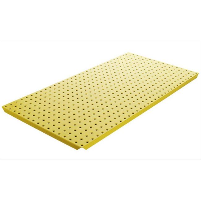 Alligator Board ALGBRD16x32PTD-YEL Yellow Powder Coated Metal Pegboard Panels with Flange - Pack of 2